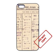 Vintage Library CardLG G2 case Customized Premium plastic phone case, - $10.88