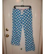 Victoria's Secret Blue w/White Dots PJ Lounge Sleep Pants Bottom Roll-up Size XS - $17.60