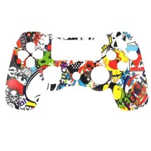 """Custom PS4 V1 Controller """"Stickerbomb"""" Front Shell (Matte Finish) - $12.49"""
