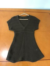 Women's Calvin Klein Jeans Brown See Through Pullover Sweater Dress Size... - $9.89