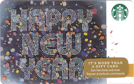 Starbucks 2016 Happy New Year Collectible Gift Card New No Value - $4.99