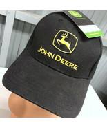John Deere Farming Tractor Cary Francis Strapback Baseball Cap Hat Black - $17.43