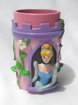 Disney Princess Cinderella Sleeping Beauty Bathroom Tumbler Pink Purple NWT - $5.88