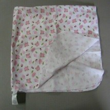 Just Born Ladybug Flower Baby Girl Cotton Flannel Blanket Pink Green White - $29.68