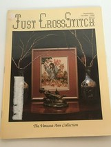 Just Cross Stitch Magazine Patterns Train Farm Barn Fairy Black Cat October 1988 - $10.19