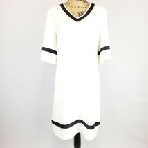 NWT $108 Tahari Womens V Neck White Dress Size 8 - $43.53