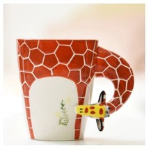 Giraffe Mug 3D Animal Shape Hand Painted Gift Ceramic Coffee Milk Tea Mug - $27.75