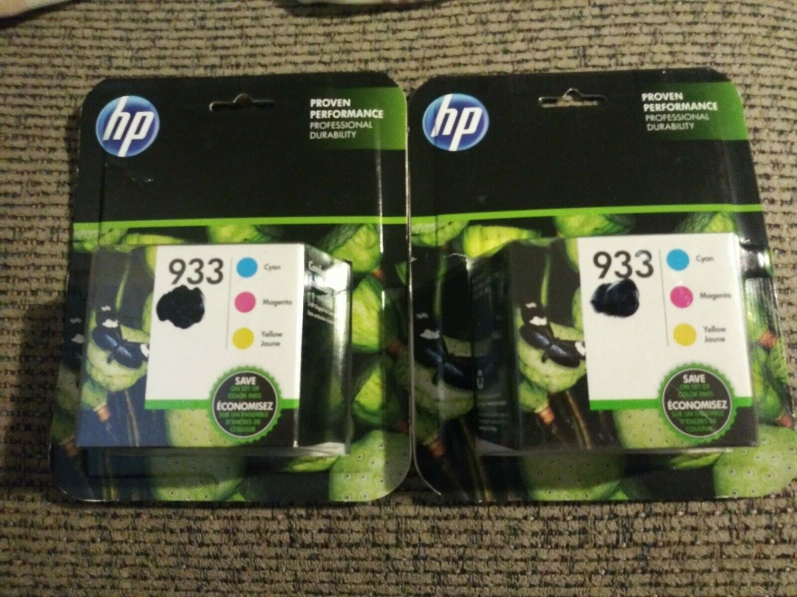 2x Genuine OEM HP 933 Tri-Color Cyan/Magenta/Yellow Ink Cartridges Exp 07/2019+