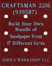 Build Your Own Bundle CRAFTSMAN 2216 1/4 Sheet No-Slip Sandpaper 17 Grits - $0.99
