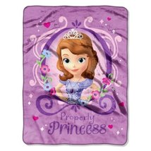 """Disney """"Sofia The First Princess Perfection"""" Silk Touch Throw, 46 by 60-... - $19.95"""