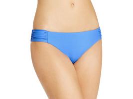 NEW Becca Rebecca ELB Blue Solid Tab Side Hipster Bikini Botom S Small - $17.77