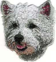 Grey Gray West Highland White Terrier Embroidered Patch - $10.40