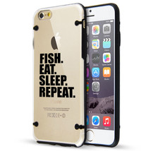 For iPhone SE 5 5s 6 6s 7 Plus Clear TPU Hard Case Cover Fish Eat Sleep ... - $14.99