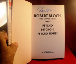 3 Complete Novels: Psycho,Psycho II & Psycho House-Robert Bloch SIGNED 1... - $445.90