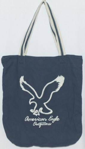 American Eagle Outfitters 7476 AE Everyday Tote Magnetic Closure Color Navy