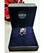 Simply Vera Vera Wang Silver Plated Geometric Ring Crystal from Swarovsk... - $15.00