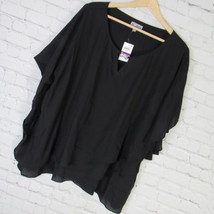 JM Collection Shirt Top Blouse Womens XXL Black C84 - $27.82