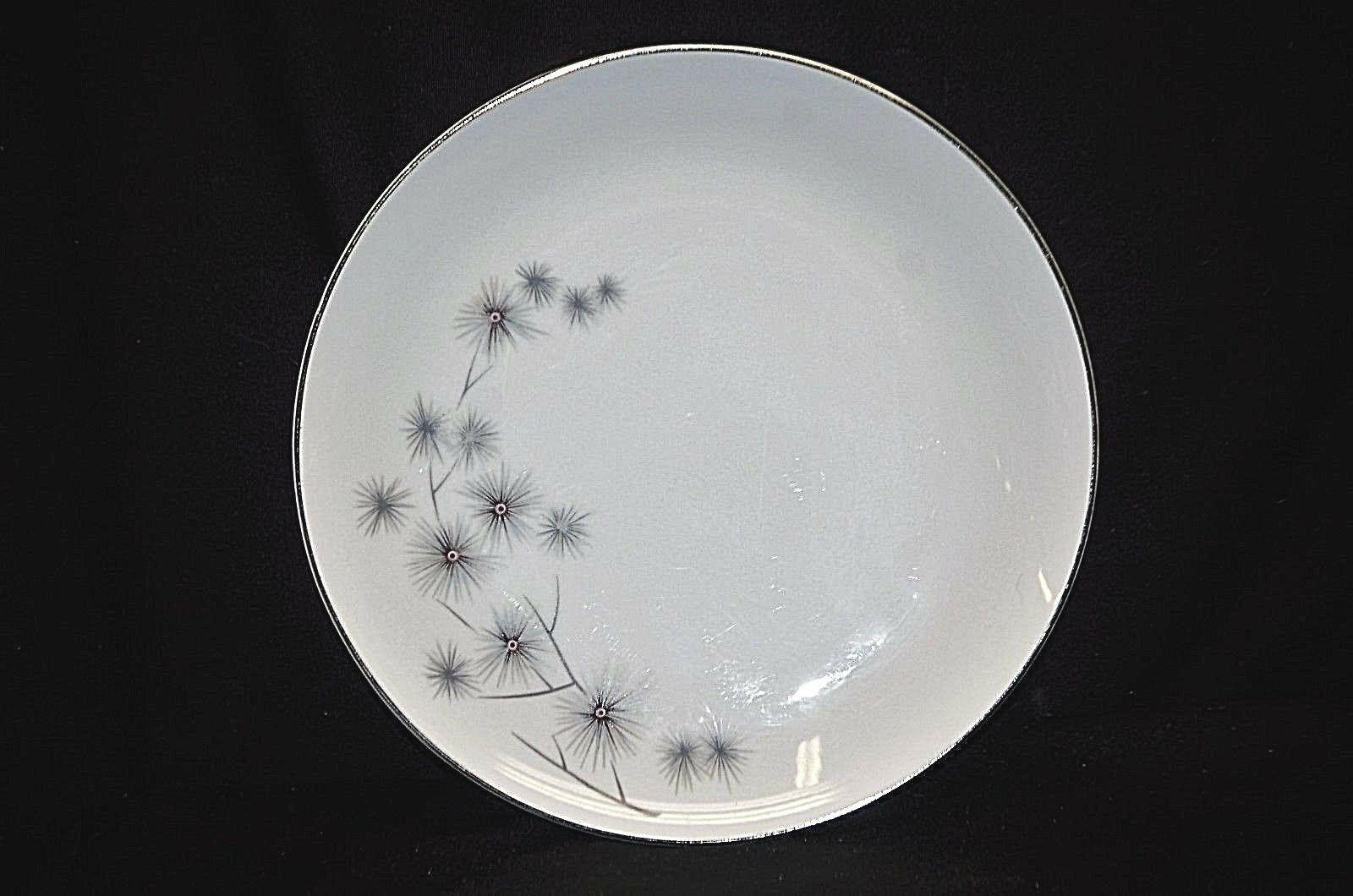 "Old Vintage Platinum Star Burst Creative 9-1/4"" Luncheon Plate Pattrn 1014 Japan - $19.79"