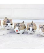 Flower Pot Mini Pots Animal Cat Ceramic Succulent Plant Cactus Planter G... - $15.99