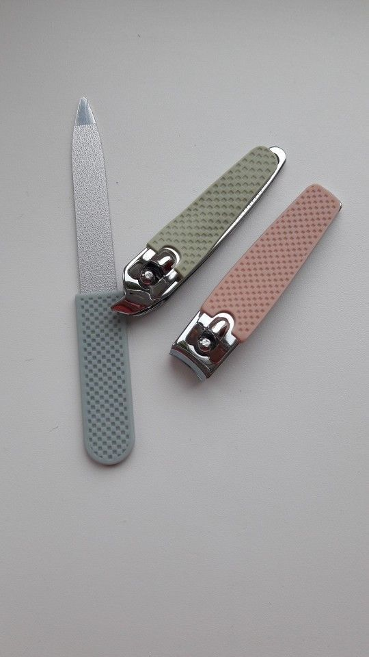 Stainless Steel Nail File Clipper Trimmer Set Fingernail Cutter Clippers Tools image 11