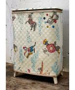Vintage Old Child's Baby's Nursery Laundry Hamper Storage Chest Bin Can ... - $170.99