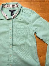 Gap Kids Girl's Teal Long Sleeve Dress Shirt - Size: Medium image 8