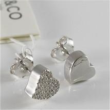 Silver Earrings 925 Jack&co with Heart Love with Zircon Cubic JCE0454 image 2