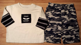 "Boy's Size 3 M 0-3 Months Two Piece Carter's Cream ""Bandit"" Raccoon Top ... - $7.00"