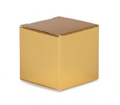 "24 gold cardboard paper gift favor boxes 2.5"" cubes  - $5.93"
