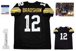 Terry Bradshaw Signed Jersey - PSA/DNA - Pittsburgh Steelers Autographed - Black - $237.59