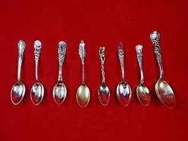 Vintage Group of Eight Sterling Silver Souvenir Spoons (#4807) - $119.00