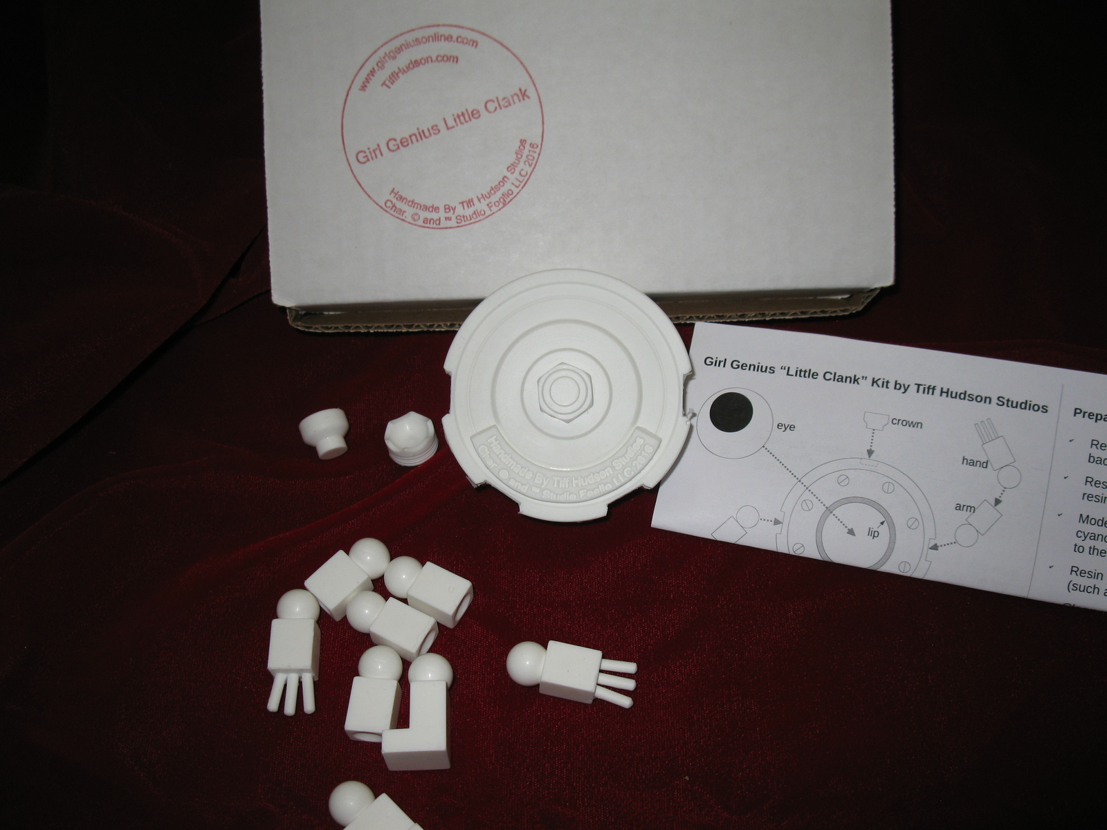"Licensed Handmade Kit! Girl Genius Little Clank life-size resin figure, 5"" tall!"
