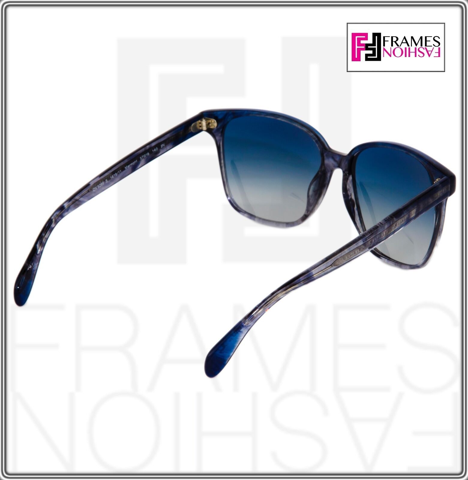 OLIVER PEOPLES MARMOT Square OV5266S Faded Sea Pacific Blue Sunglasses 5266 image 6