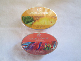 2 Colonial Candle Snaps/Tarts -GUAVA PAPAYA & ISLAND PINEAPPLE  for simm... - £5.41 GBP