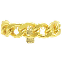 Karine Sultan Polished 24k Gold-Plate Curb Chain Bracelet with Lobster C... - $64.95