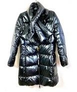 Juicy Couture Black Label Glossy Black Puffer Jacket Coat M NWT $328 - $199.00