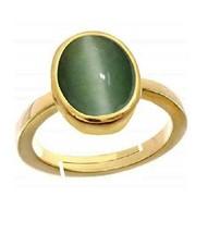 Panuchdhatu Astrological Rashi Ratan Cat's Eye/Lehsuni Ring For Unisex S... - $57.81