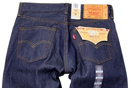 Levi's 501 Men's Original Straight Leg Jeans Button Fly Blue 501-1000