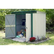 Steel Storage Shed 10 x 4 Lockable Double Door Latch Green Outdoor Garde... - $607.97