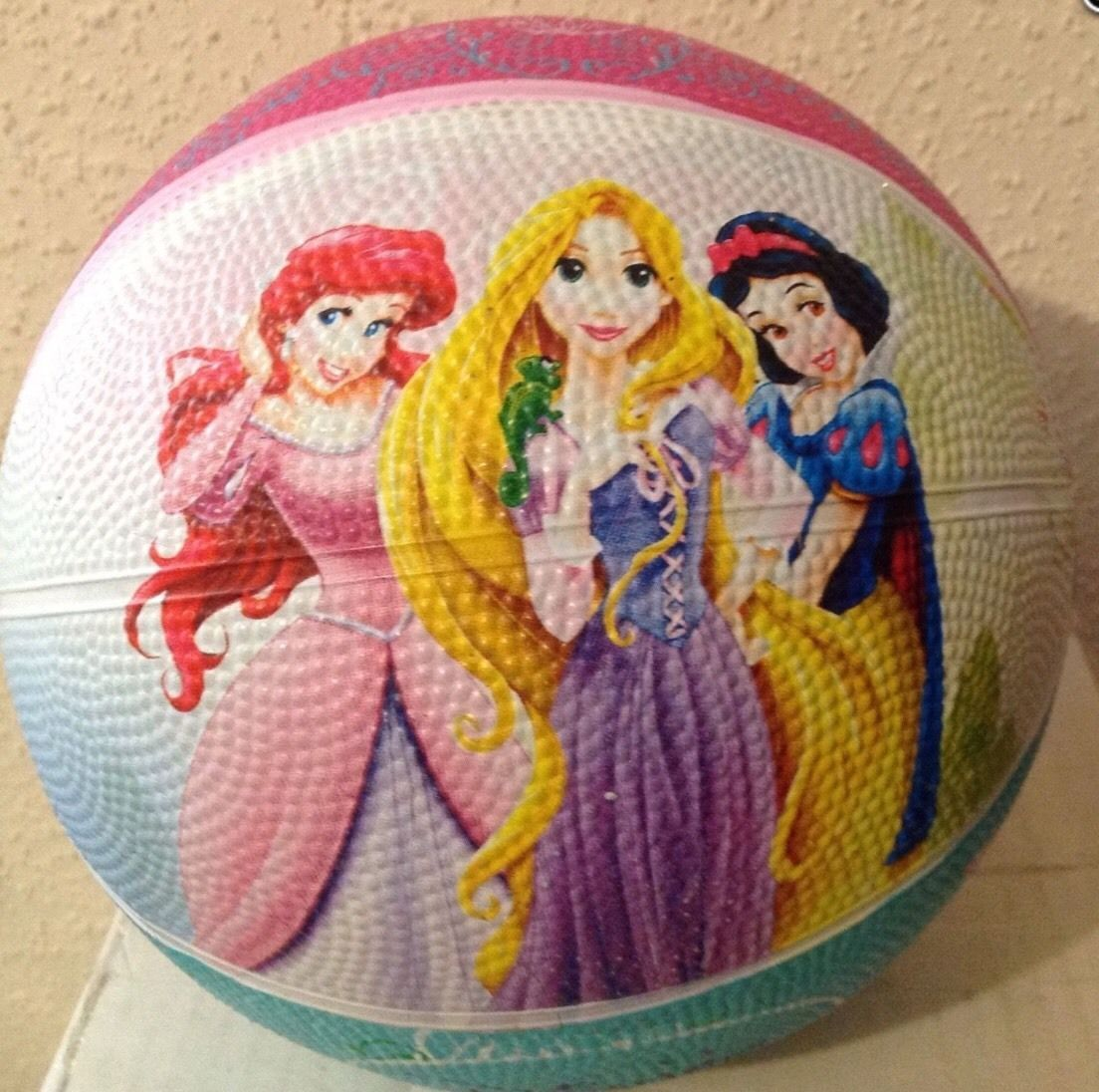 Franklin Sports DISNEY PRINCESS MINI SIZE Rubber Basketball New - Toddler Size