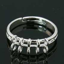 6pc silver plated ring shank-6974 - $2.00