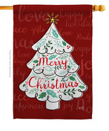 The Christmas Tree - Impressions Decorative House Flag H137310-BO - $36.97