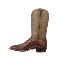 Handmade Men's Brown Ostrich Print Leather Cowboy Mexican Western Taxes Boots - €425,87 EUR