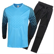 Adult Child Long Sleeve Soccer Football Goalkeeper's Clothes Uniform Jac... - $33.99