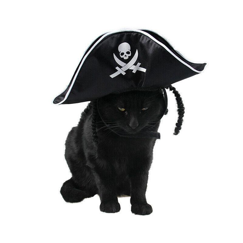 PAWZ® Pet Cat Halloween Costume Cool Skeleton Pirate Caps For Cat Dog