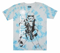 Star Wars Big Boys' First Order Storm Trooper with Blaster Tie-Dye T-Shirt - $12.99