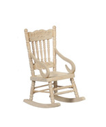 DOLLHOUSE MINIATURES UNFINISHED ROCKING CHAIR #GQ082 - $8.99