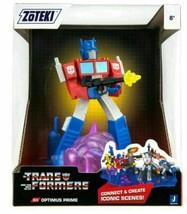 "2021 Jazwares Zoteki Transformers OPTIMUS PRIME Diorama 6"" Action Figure NEW"