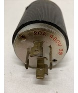 Hubbell 20A 480V 3phase Twist And Pull Prong  - $10.69