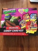 TMNT Teenage Mutant Ninja Turtles Valentines Day Lollipop Candy Card Kit 28 CT - $11.86